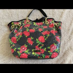 BRAND NEW AUTHENTIC BETSEY JOHNSON SEQUIN TOTE
